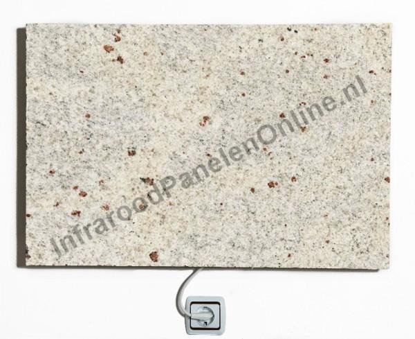 Infrarood paneel Graniet Kashmir White, 500x500x13 mm, 250 Watt