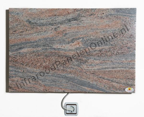 Infrarood paneel Graniet Juparana India Light, 750x500x13 mm, 410 Watt