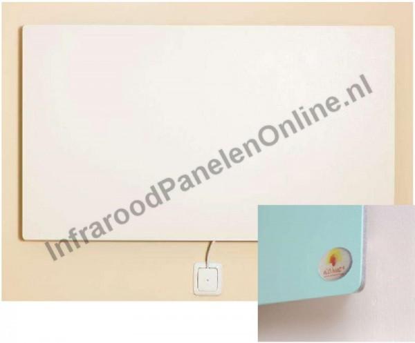 Infrarood wandverwarming GFK (glasvezel versterkte kunststof), 750x500x6 mm